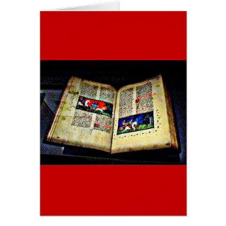 CB medievales del libro Tarjeta De Felicitación