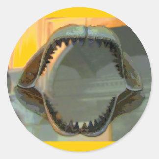 CB prehistóricos de los mandíbulas Pegatina Redonda