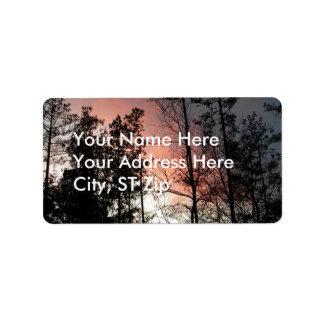 CB- Red Sky Twilight Address Labels