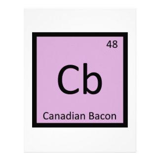 Cb - símbolo de la química del jamón del tocino ca membrete personalizado