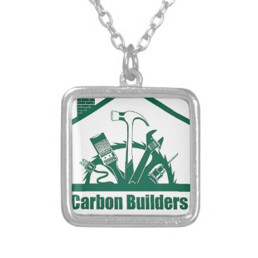 Beach Themed CBA Logo Silver Plated Necklace