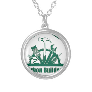 CBA Logo Silver Plated Necklace