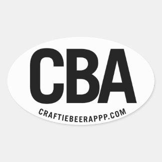 CBA on White Oval Sticker (set of 4)