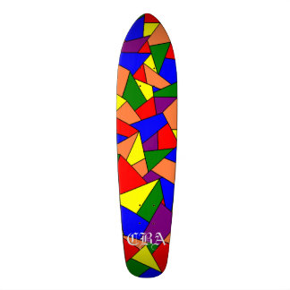 CBA - Stain Glass Skateboard Deck