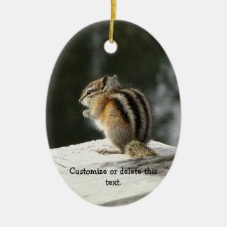 CBAT Chipmunk Bathtime Ceramic Ornament