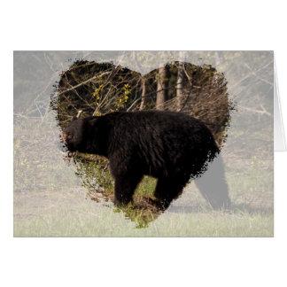 CBB Chubby Black Bear Greeting Card