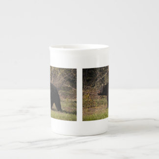 CBB Chubby Black Bear Porcelain Mug