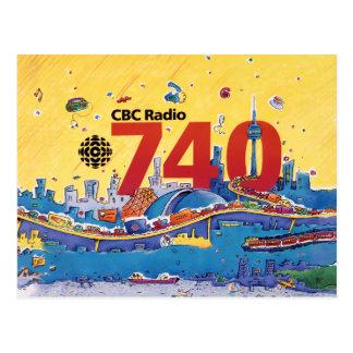 CBC Radio 740 - 1980 promo graphic Postcard
