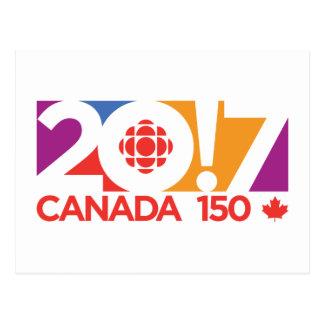 CBC/Radio-Canada 2017 Logo Postcard
