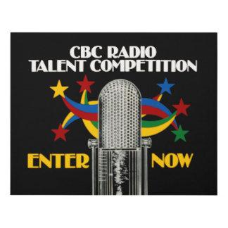 CBC Radio Talent Competition - promo Panel Wall Art