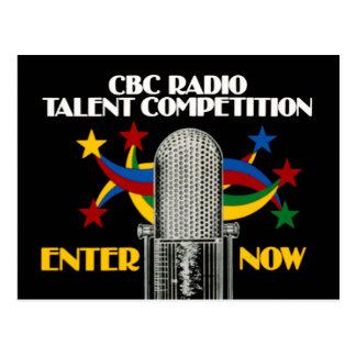 CBC Radio Talent Competition - promo Postcard