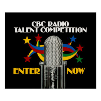 CBC Radio Talent Competition - promo Poster