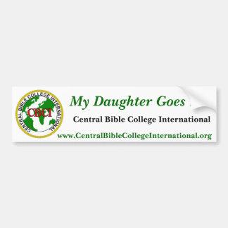 CBCI Central Bible College International Bumper Sticker