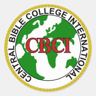CBCI Central Bible College International Classic Round Sticker