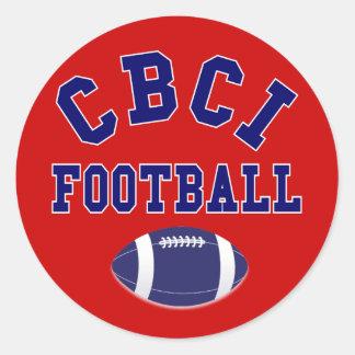 CBCI Football Still Undefeated Classic Round Sticker