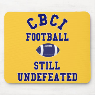 CBCI Football Still Undefeated Mouse Pad