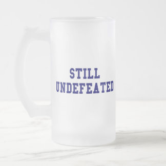 CBCI Football Still Undefeated 16 Oz Frosted Glass Beer Mug