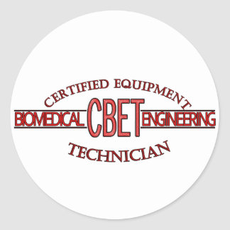 CBET BIOMEDICAL ENGINEERING LOGO  EQUIPMENT TECH CLASSIC ROUND STICKER