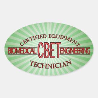 CBET BIOMEDICAL ENGINEERING LOGO  EQUIPMENT TECH OVAL STICKER
