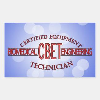 CBET BIOMEDICAL ENGINEERING LOGO  EQUIPMENT TECH RECTANGULAR STICKER