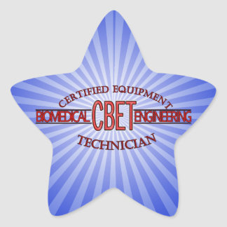 CBET BIOMEDICAL ENGINEERING LOGO  EQUIPMENT TECH STAR STICKER