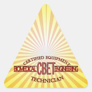 CBET BIOMEDICAL ENGINEERING LOGO  EQUIPMENT TECH TRIANGLE STICKER