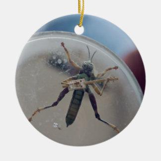 CBG Grasshopper Ceramic Ornament