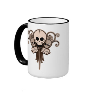 CBG Skulls 'n Swirls Ringer Coffee Mug