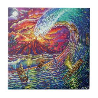 CBjork Big Wave Of Fire Tile
