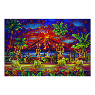 CBjork, Hawaiian Hula Luau Huge Poster
