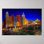CBjork Las Vegas Cityscape Hotel Casinos Poster