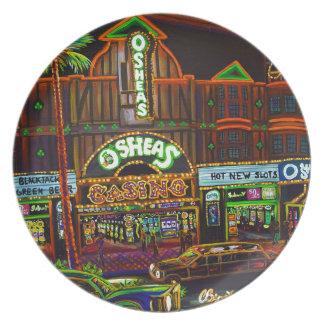 CBjork Osheas Las Vegas Artwork Dinner Plate
