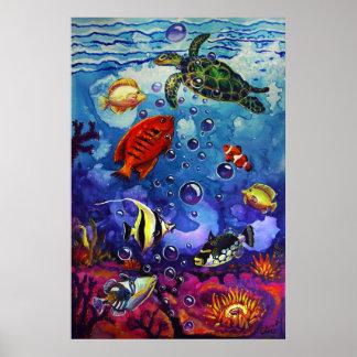 CBjork Tropical Fish, Moorish Idol Poster Print