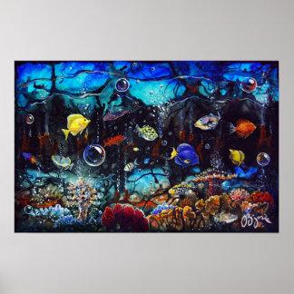 CBjork, Tropical Reef Fish Hawaiian Painting Print
