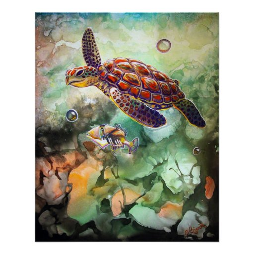 CBjork Turtle and Trigger Poster