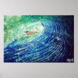 CBjork Wave Of Fish Poster Print