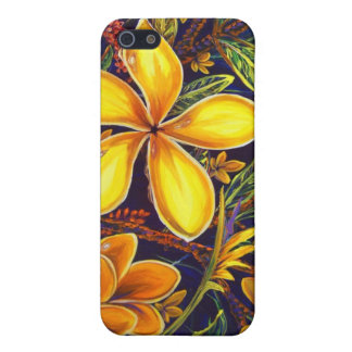 CBjork Yellow Island Plumeria Art Cover For iPhone SE/5/5s