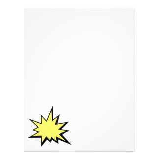CBPG COMICBOOK POW BANG ACTION GRAPHIC SHARP OUTBU CUSTOMIZED LETTERHEAD