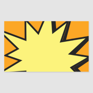 CBPG COMICBOOK POW BANG ACTION GRAPHIC SHARP OUTBU RECTANGULAR STICKER