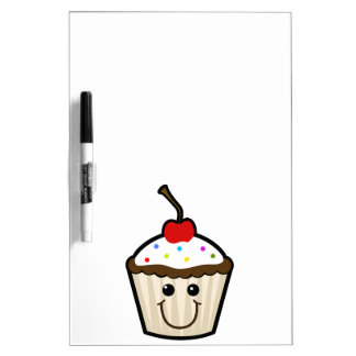 CC2 COLORFUL HAPPY CARTOON CUPCAKE CANDY SPRINKLES DRY ERASE WHITE BOARD