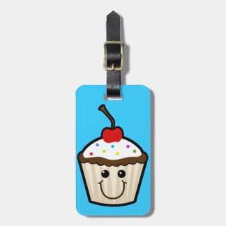 CC2 COLORFUL HAPPY CARTOON CUPCAKE CANDY SPRINKLES TRAVEL BAG TAG