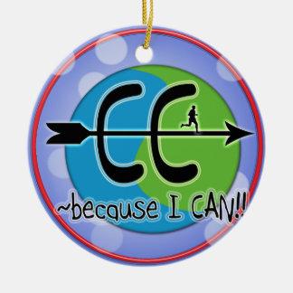 CC BECAUSE I CAN! RUN THE WORLD LOGO CERAMIC ORNAMENT