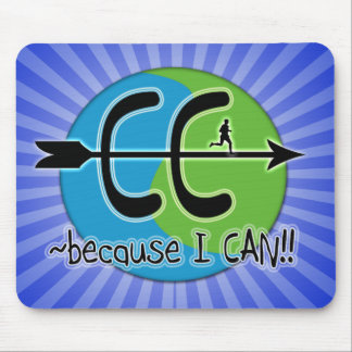CC BECAUSE I CAN! RUN THE WORLD LOGO MOUSE PAD