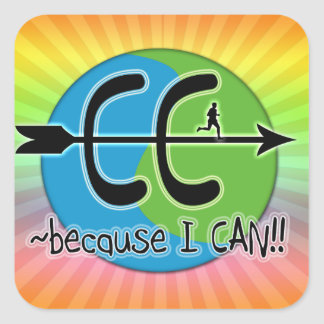 CC BECAUSE I CAN RUN THE WORLD LOGO STICKERS