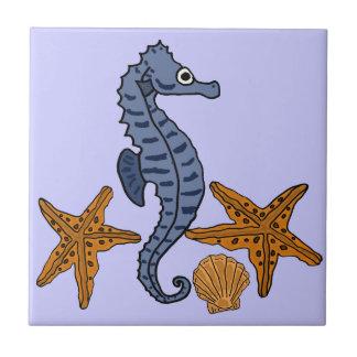 CC caballo de mar y teja de los pescados de la est