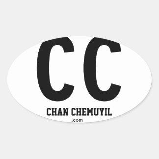 CC Chan Chemuyil Oval Bumper Sticker