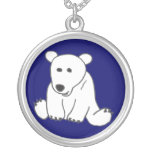CC collar del dibujo animado del oso polar