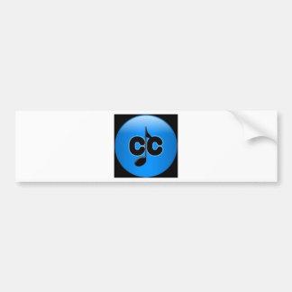 Cc con diseño del logotipo de la nota de los trans pegatina para auto