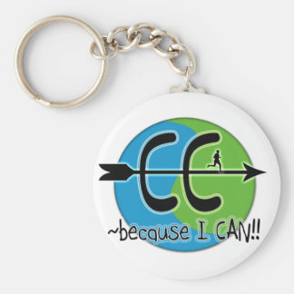 CC Cross Country - Because I CAN!! Key Chains
