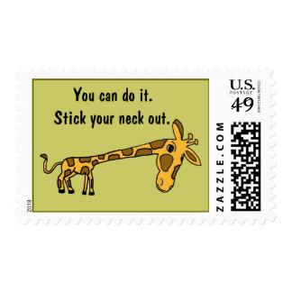 CC- Funny Giraffe Inspirational Postage